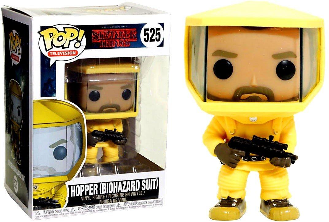 Funko Pop! Stranger Things - Hopper en Traje amarillo de Riesgo Biológico