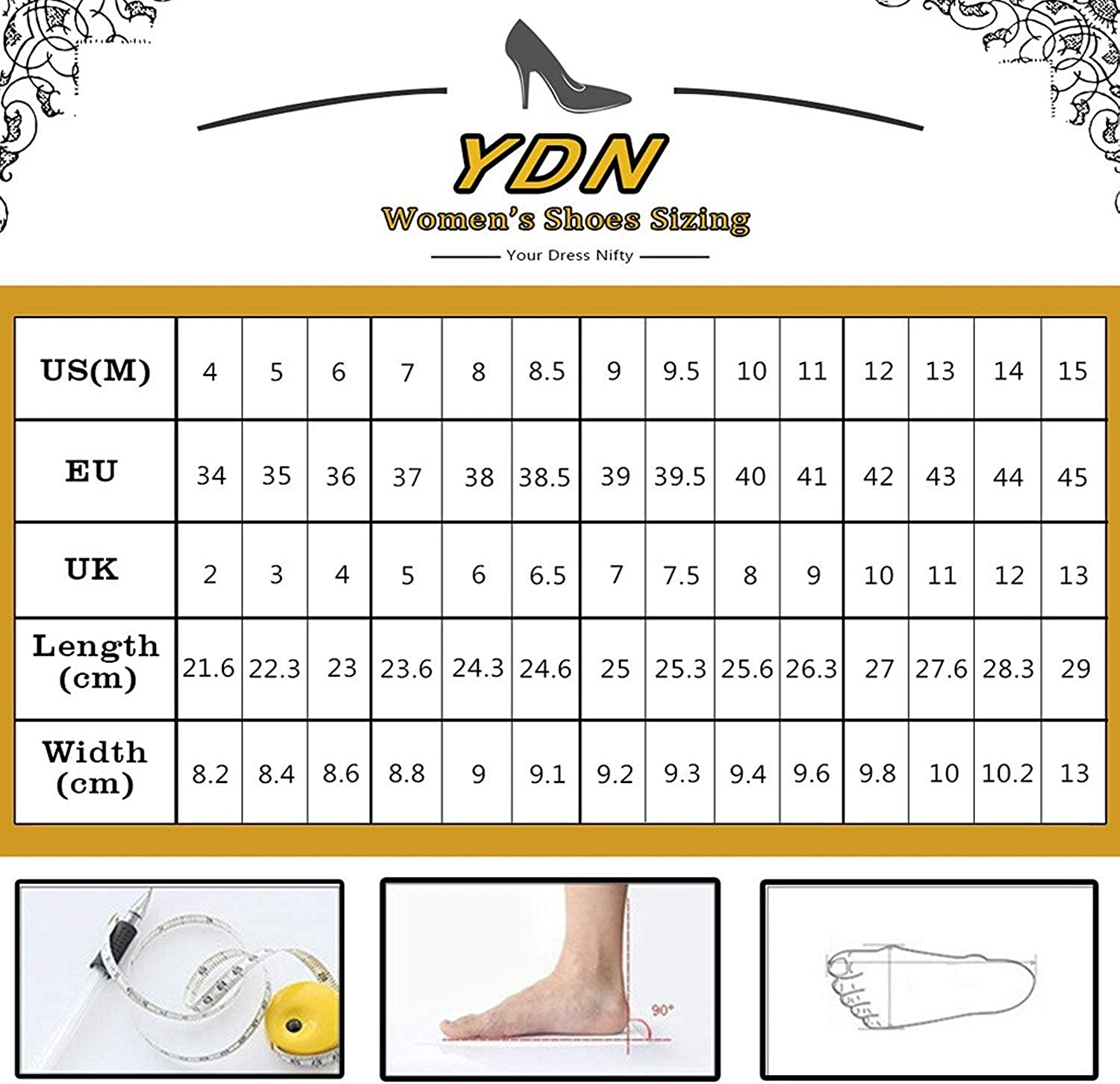 YDN Women Pointed Toe Low Heel Office Pumps Slip on Dress Shoes with Bowknots