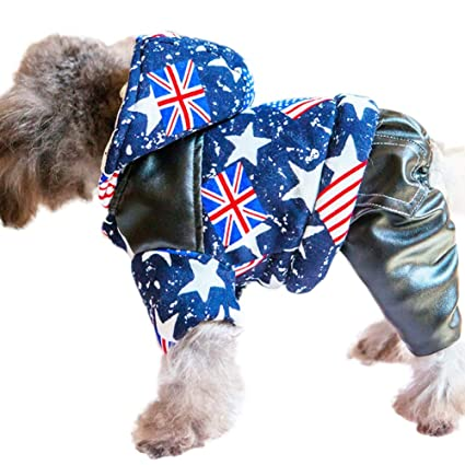 Jumpsuits & Rompers Dynamic Pet Dog Jumpsuit Clothing Winter Warm Fleece Small Dog Puppy Cotton Padded Jacket Cat Dog Coat Bear Pattern Wear Hoodie Clothes Home & Garden