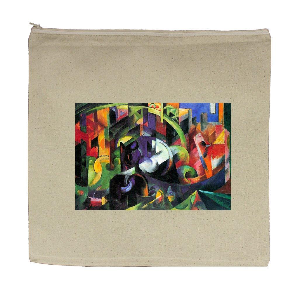 Animal Harmony #1 (Franz Marc) Canvas Zipper Tote Bag Makeup Bag