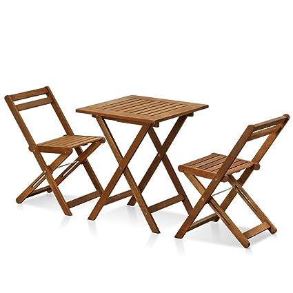 Anderson Teak Bistro Set 31 Round Folding Teak Table 4 Chairs