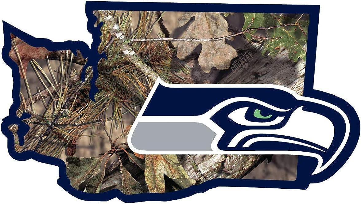 Siskiyou NFL Unisex State Decal w/Mossy Oak Camo