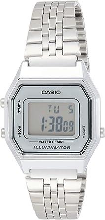 Casio Collection LA680WEA-7EF Reloj de pulsera para Mujer, Gris ...