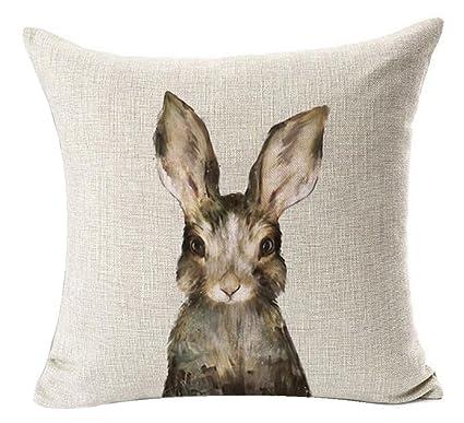 Amazon PSDWETS Easter Rabbit Home Decor Pillow Covers Cotton Adorable Spencer Home Decor Tweets Bird Throw Pillow
