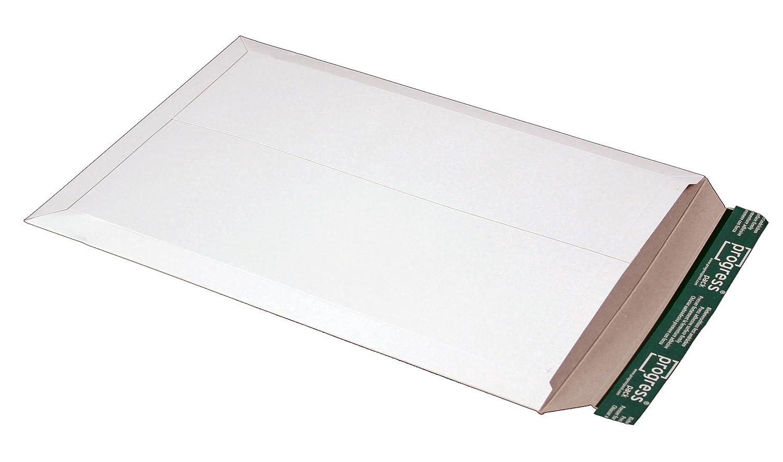 progressPACK PP O06.01 - Scatola porta raccoglitore per spedizioni postali Premium, in cartone ondulato, formato DIN A4, 309 x 447 max. 30 mm, confezione da 25, colore: Bianco progress packaging GmbH