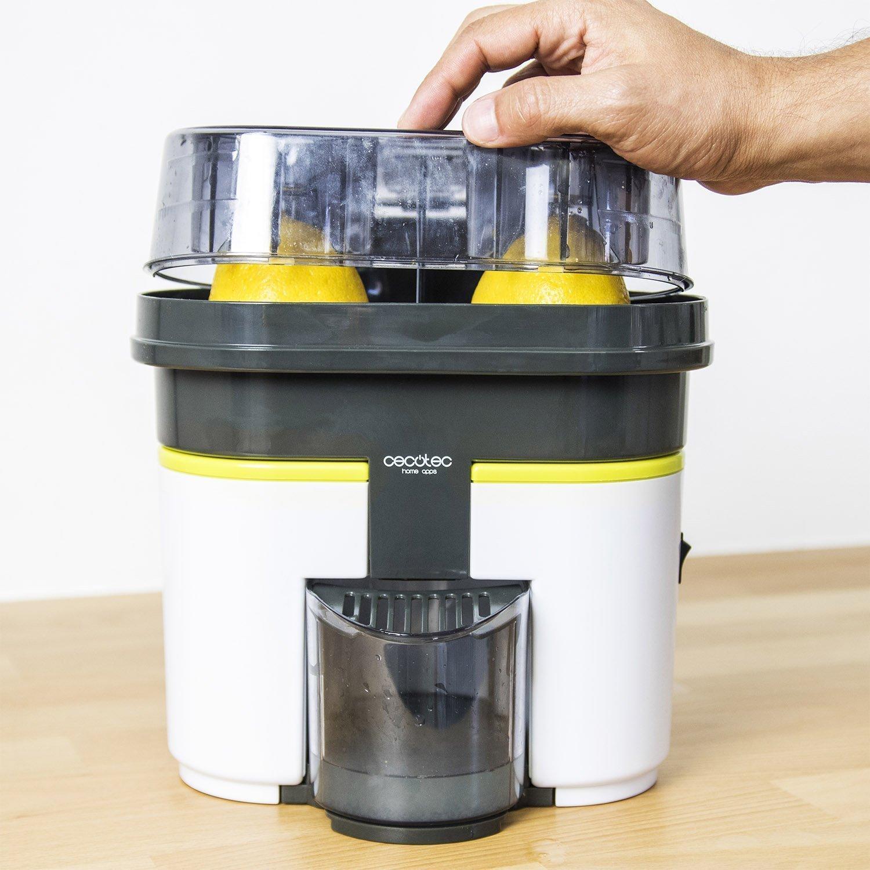 TOP SHOP CECOTEC Cecojuicer Zitrus Extractor de jugo 500 ml Una cabeza doble 90 vatios: Amazon.es