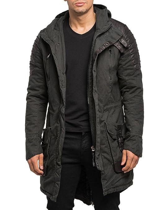 11 opinioni per Burocs Uomo Motociclista Parka giacca invernale trapuntato lungo nero BR91