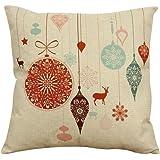 AIMTOPPY Vintage Christmas Sofa Bed Home Decor Pillow Case Cushion Cover