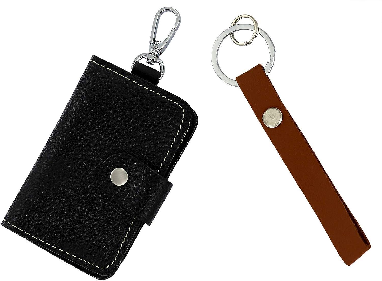 Key case 1pcs Joyce Lindberg Genuine Leather Key Case Leather Card Holder Keychain Wallet for Men and Women