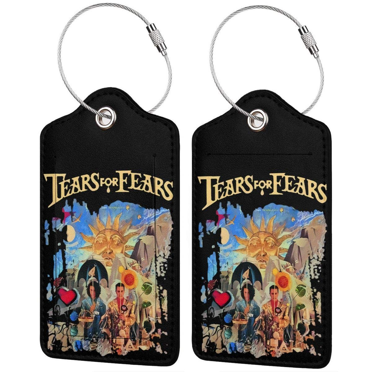 4 Kinds Of Specifications Tears-for-Fears-The-Seeds-of-Love Printed?Leather Luggage Tag /& Bag Tag With Privacy Cover