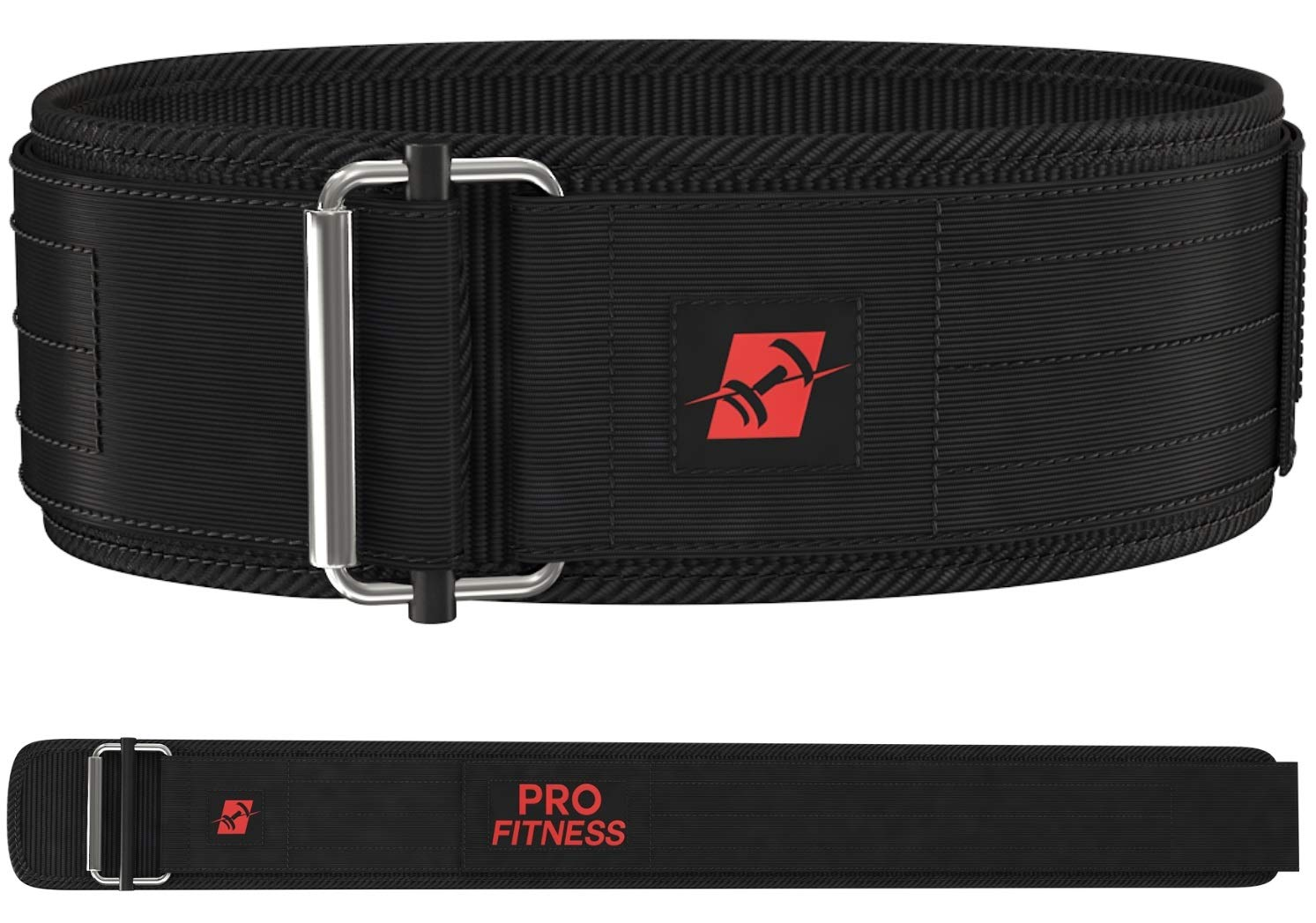 ProFitness Weight Lifting Belt for Women (Small, Black/Red)