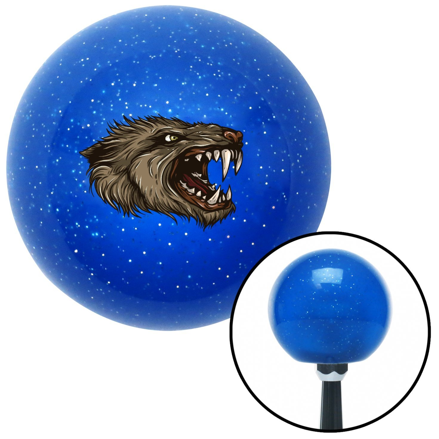 American Shifter 27937 Blue Metal Flake Shift Knob Beast Head