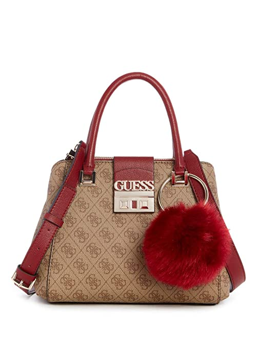 0a671677750a GUESS Logo Luxe Small Society Satchel  Amazon.ca  Sports   Outdoors