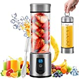 Portable Blender, G-TING Personal Smoothies Blender Cordless, Single Serve Mini Blender 450ml USB Rechargeable Small Juice Mixer Portable Juicer (Shakes, Smoothies, Home, Travel & Gym) FDA BPA Free