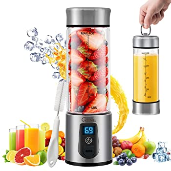 Gting mini LED screen rechargeable battery-operated blender