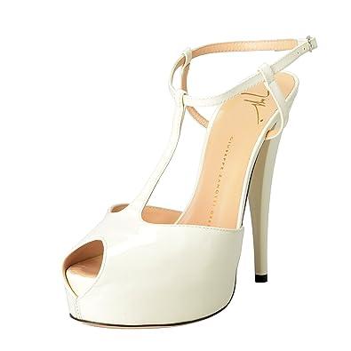 b92925dcfb7 Giuseppe Zanotti Design Women s Off White Open Toe Ankle Strap High Heels  Shoes US 8 IT