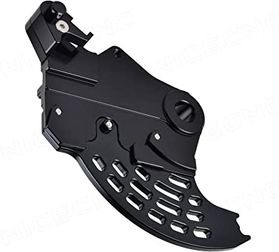 NICECNC Black Rear Brake Caliper Support With Brake Disc Guard Replace Beta RR//RS 2005-2018 Beta Xtrainer 300 2015 2016 2017 2018