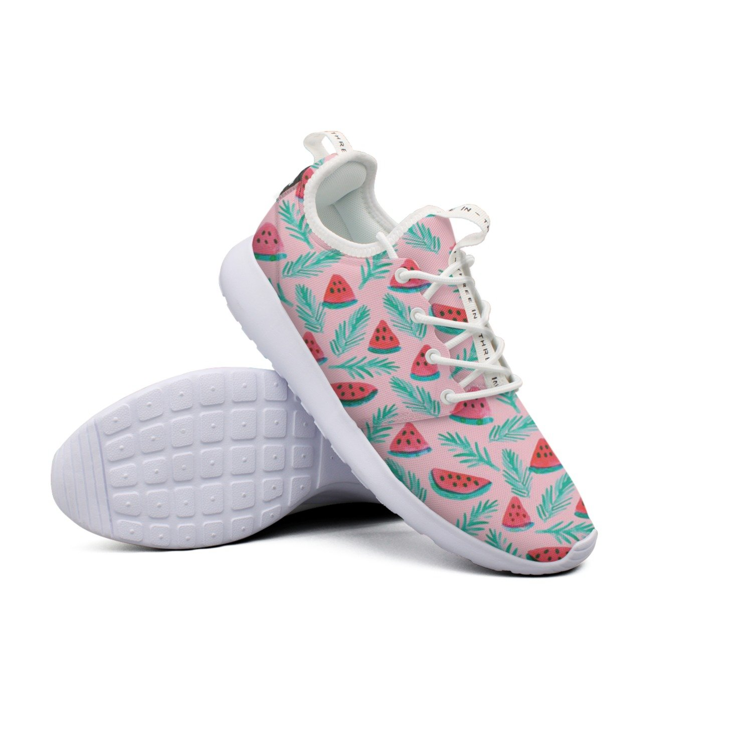 Pretty Women Sweet Melon Palm Pattern Printing Colorful Neutral Unique Sports Running Shoes