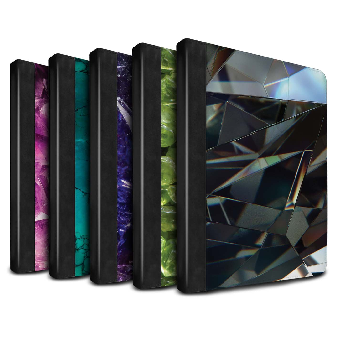 STUFF4 PU Leather Book/Cover Case for Apple iPad 2/3/4 tablets / Pack 19pcs Design / Birth/Gemstone Collection