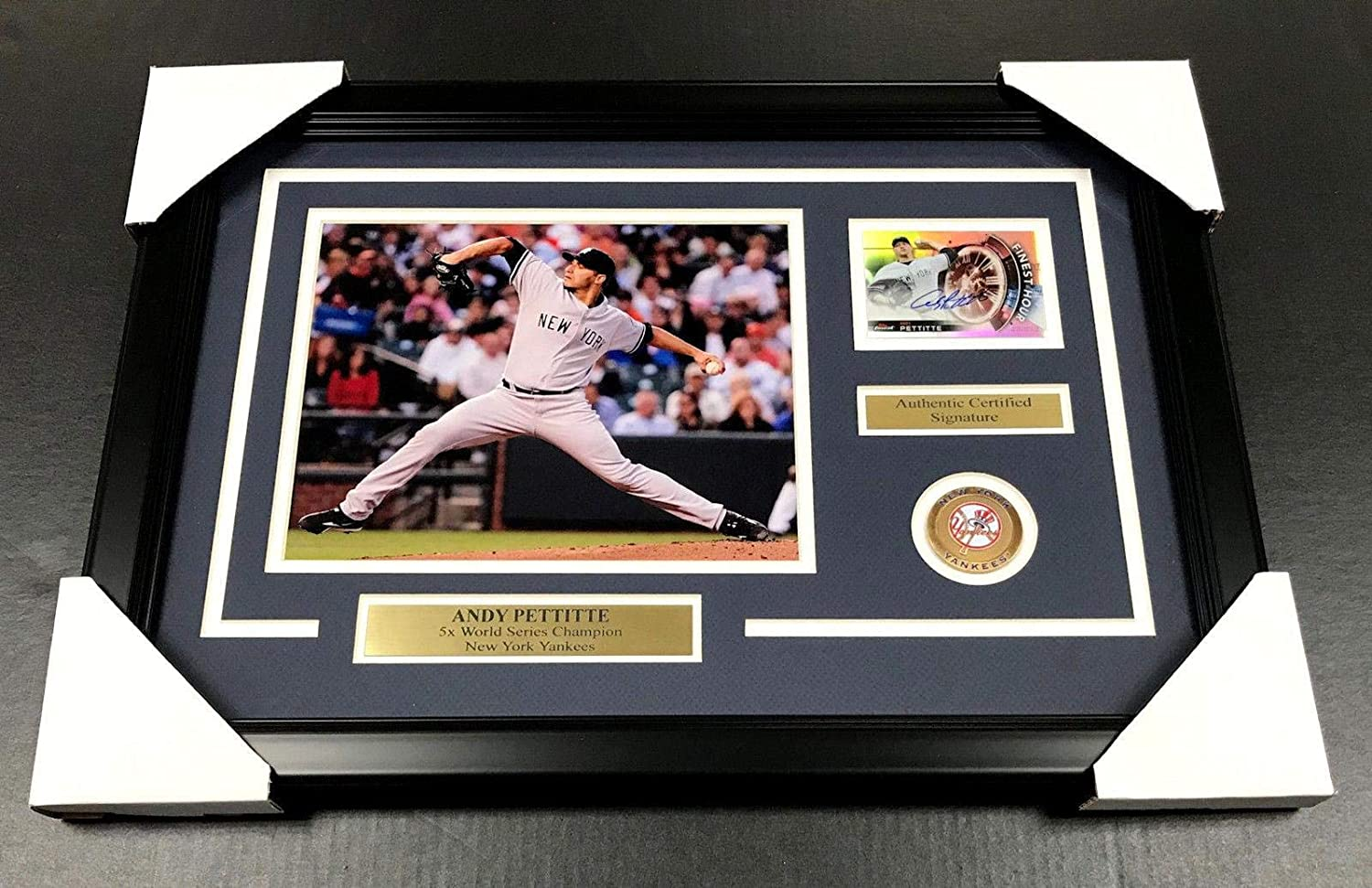 Andy Pettitte Autographed Photo - Cd 8x10 FRAMED - Autographed MLB Photos Baseball Card Outlet