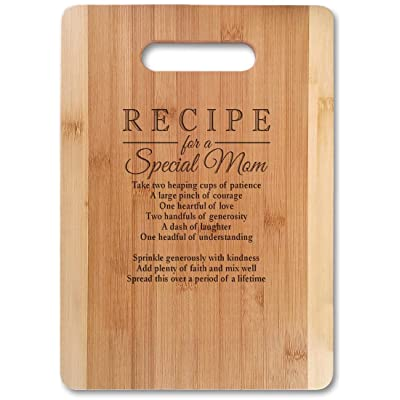 Bamboo Serving Cutting Board for Mothers Day Birthday or Christmas