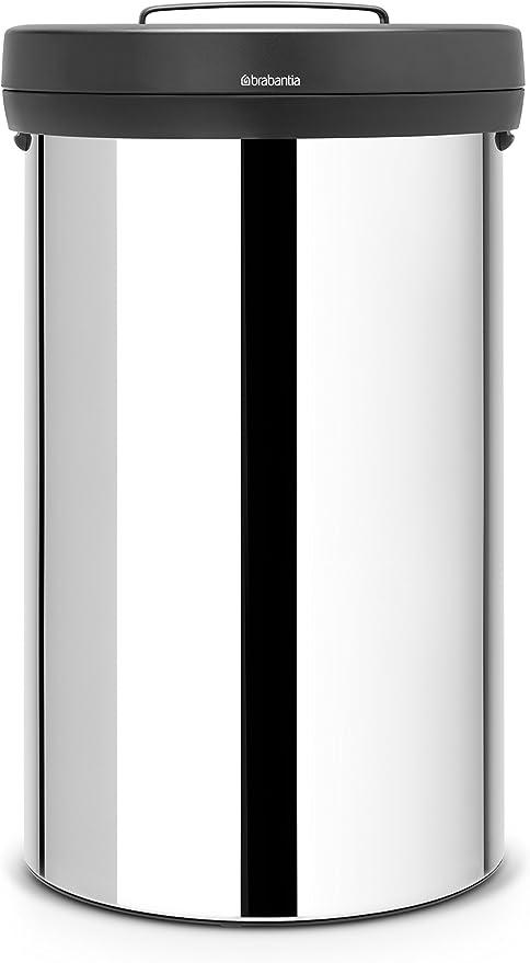 brabantia XL Abfalleimer Touch Bin 60 Mülleimer Matt Steel Abfallsammler Tonne