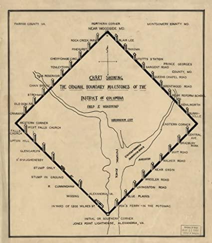 Amazon.com: Vintage 1906 Map of Chart showing the original ...