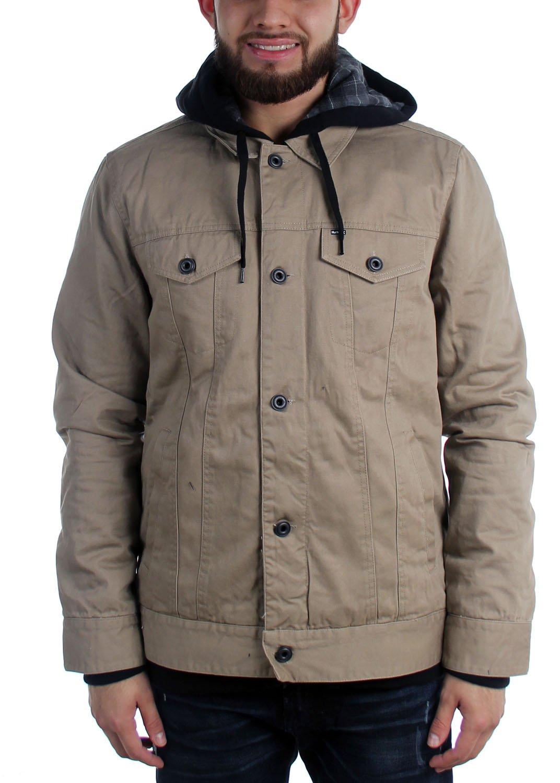 Hurley - Mens Mac Trucker Jacket, Size: X-Large, Color: Khaki