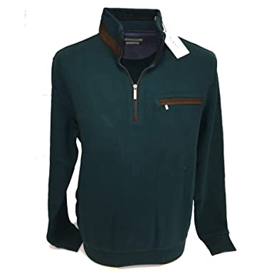 Bugatti Herren Pullover Grün grün, Grün Medium: