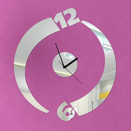 Amazon.com: DIY Wall Clock Made of Acrylic Material,Thunder Numbers ...