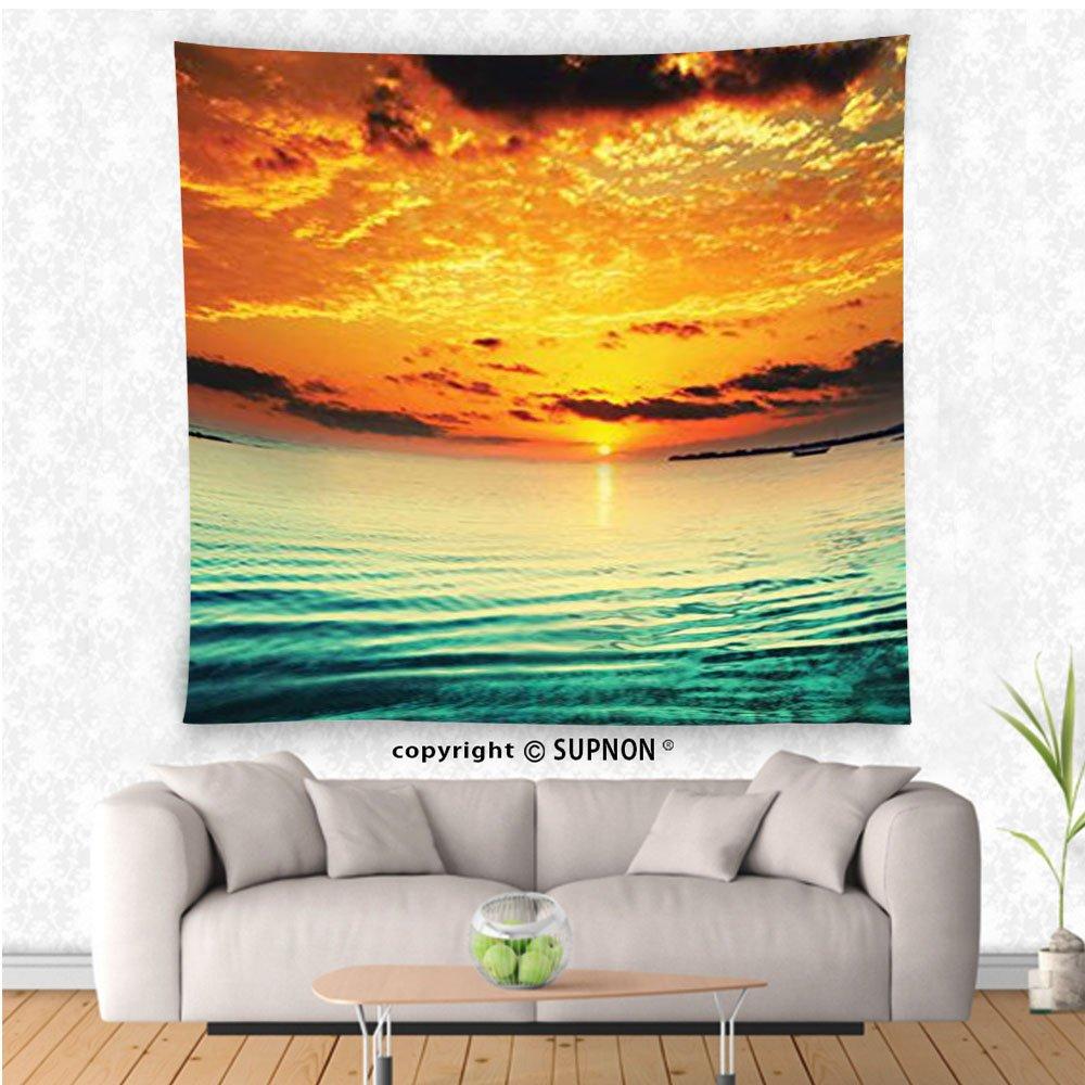 Amazon.com: VROSELV custom tapestry Ocean Decor Collection Sunset at ...