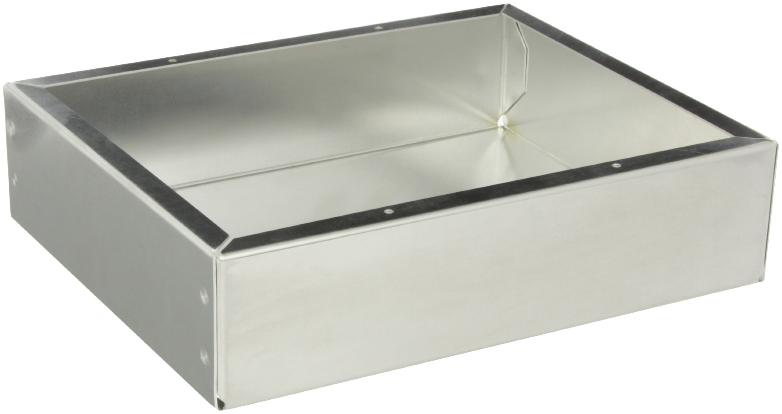 BUD Industries AC-1418 Aluminum Chassis, 10'' Length x 8'' Width x 2-1/2'' Height, Natural Finish