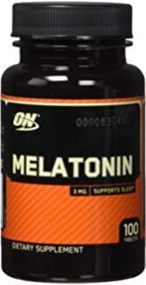 Amazon.com: Optimum Nutrition Melatonin 3mg, 100 Tablets (3 packs ...