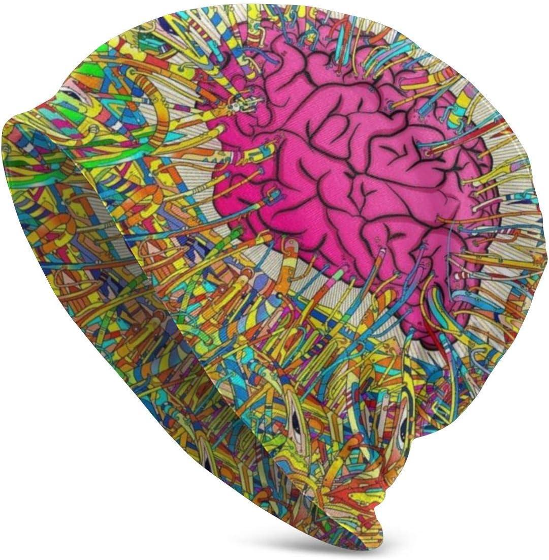 Colorful artistic brain beanie