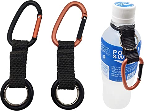 NEW FOLDING SPORTS WATER BOTTLE KEEP CALM /& KEEP TRAINING CARABINER CLIP RED