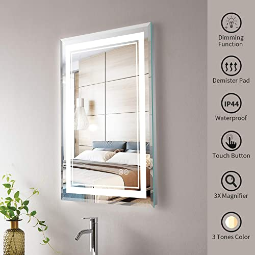 SMARTCOOM LED Bathroom Mirror Light Vanity Dimmer Touch Control Wall Mounted Backlit Anti Fog Horizontal Vertical 24 32
