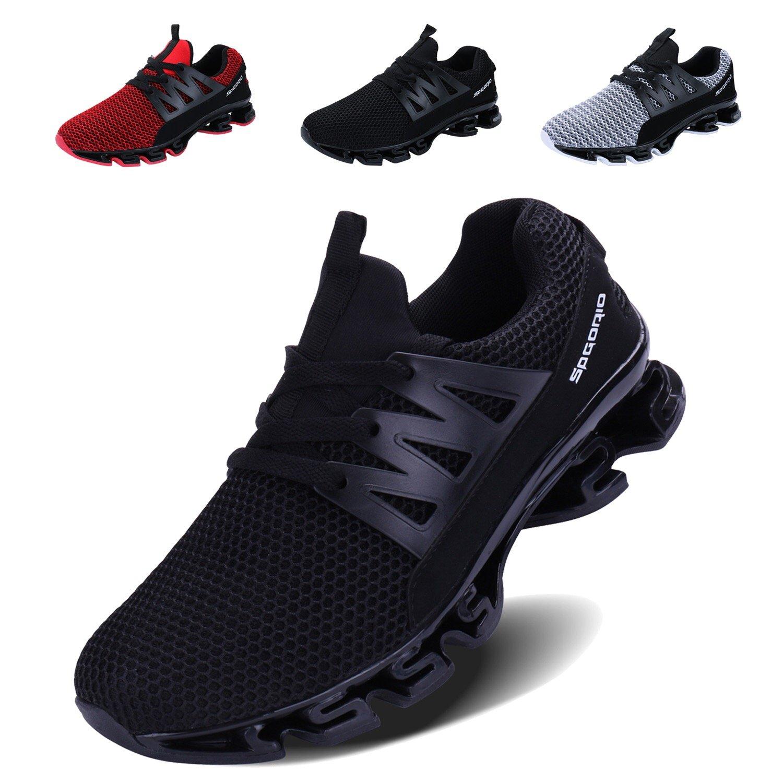 VOEN Casual Walking Shoes Men Blade Outdoor Sport Sneakers Mesh Breathable Fashion Shoe Black Size 46