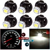 cciyu 6 Pack White T4/T4.2 Neo Wedge LED Bulb A/C Climate Control Lights