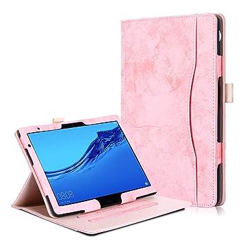 the best attitude d55c8 9e69f Huawei MediaPad T5 10 / M5 Lite 10 Case - Premium PU Leather Folio Stand  Cover Case for Huawei MediaPad T5 10 / M5 Lite 10-Inch Tablet-PC 2018 ...