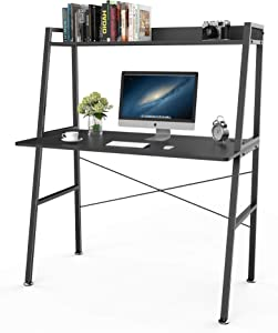 Eureka Ergonomic Computer Desk with Shelves, 43