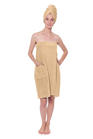 a055ead6ea Women s Towel Wrap - Bamboo Viscose Spa Wrap Set by Texere (The Waterfall