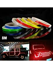AM Safety Reflective Warning Lighting Sticker Adhesive Tape Roll Strip. for Beautify Bicycle Bike Decoration