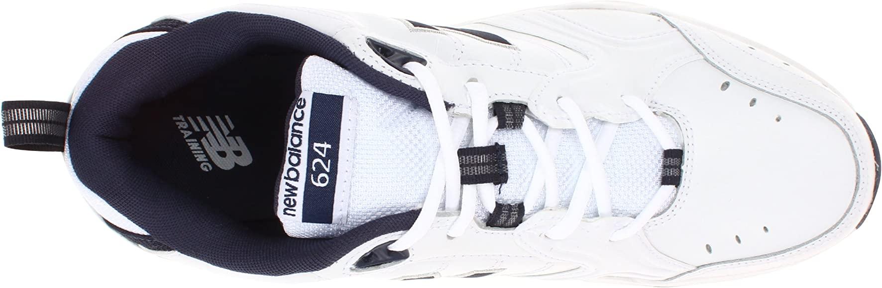 d3cf607f5b5 New Balance Men's MX624v2 Casual Comfort Training Shoe, White/Navy, 7 D US.  Back. Double-tap to zoom