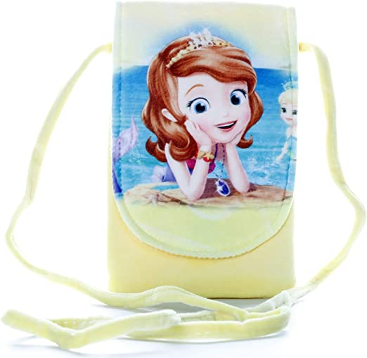 HC Toys LLP | Mermaid Princesses Soft Canvas Material Sling Bag for Girl Children Casual Purse Yellow