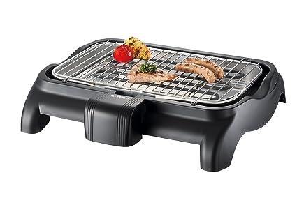 Severin Elektrogrill Drinnen : Severin pg barbecue grill w tischgrill grillfläche