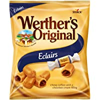 Werther's Original Éclairs Bag, Chewy Toffees with a Decandent Chocolate Cream Centre, 100 g