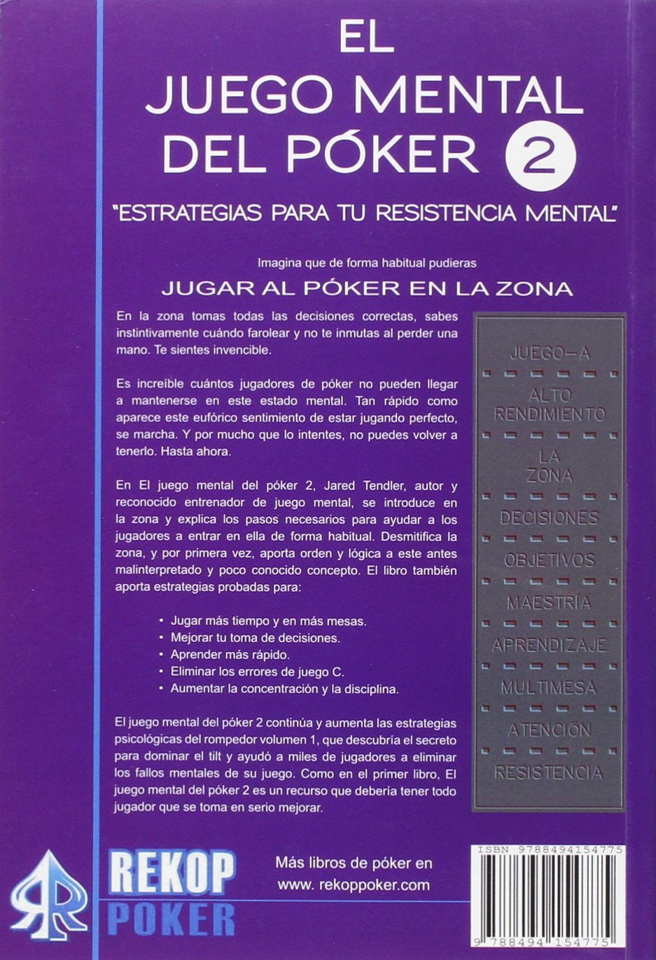 El Juego Mental Del Poker Vol Ii Rekoppoker Amazon Es Jared Y