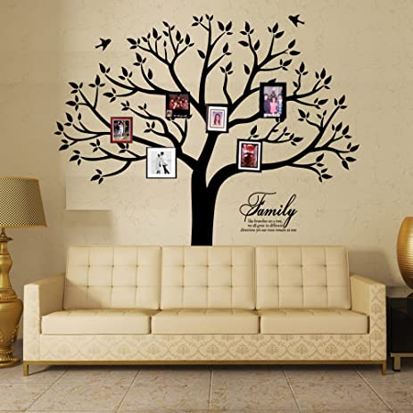 Family Wall Decal~Family Tree Wall Decal Stickers Living Room Home Decal  Bed Baby Room