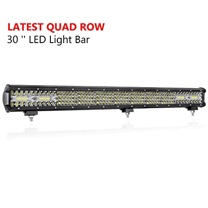 Amazon 30 inch led light bar offroadtown 496w quad row led 30 inch led light bar offroadtown 496w quad row led driving light spot flood combo aloadofball Gallery