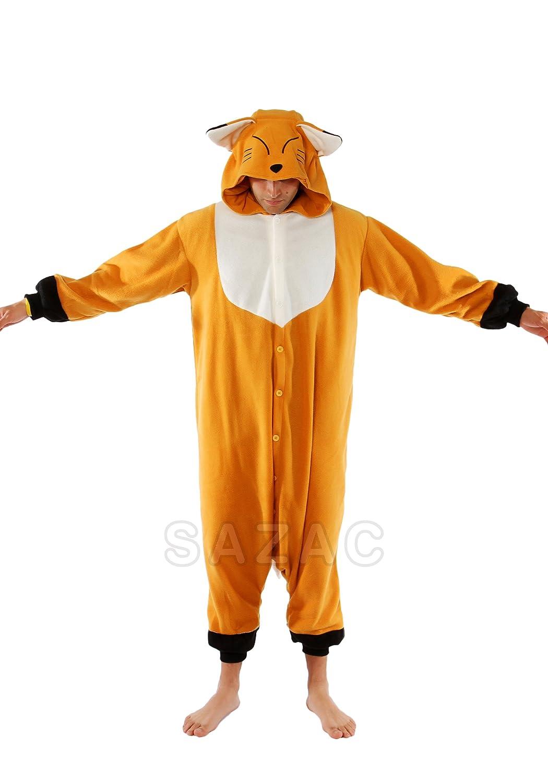 Amazon.com Kigurumi Fox Adult Animal Pyjamas / Fancy Dress Costume Clothing  sc 1 st  Amazon.com & Amazon.com: Kigurumi Fox Adult Animal Pyjamas / Fancy Dress Costume ...
